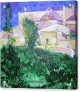 Staeulalia Church - Lit Up At Night Acrylic Print