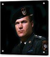 Staff Sergeant Barry Sadler In Uniform R.i.p. Circa 1965-2016 Acrylic Print