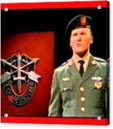 Staff Sergeant Barry Sadler Singing On National Tv - Ed Sullivan Show 1966-2016 Acrylic Print