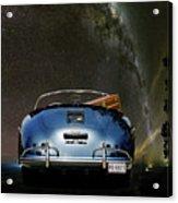 Star Gazing,1955 Porsche 356a 1600 Speedster, Under The Milky Way Acrylic Print