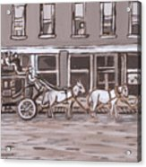 Stagecoach In Saratoga Historical Vignette Acrylic Print