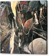 Stagecoach Robbers Acrylic Print