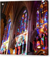 Stain Glass Cathedral Acrylic Print