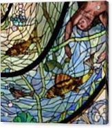 Stain Glass Set 1 - Bath House - Hot Springs, Ar Acrylic Print