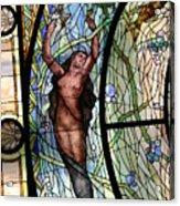 Stain Glass Set 3 - Bath House - Hot Springs, Ar Acrylic Print