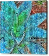 Stained Glass Agave Two  Acrylic Print