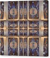 Stained Glass And Brass Acrylic Print by Ricky Kendall