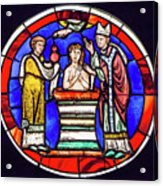 Stained Glass - Baptism - Musee De Cluny Acrylic Print
