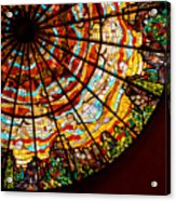 Stained Glass Ceiling Acrylic Print