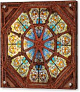 Stained Glass Ceiling Window Acrylic Print