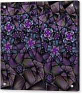 Stained Glass Floral II Acrylic Print