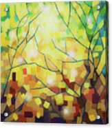 Stained Glass Forest Acrylic Print