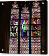 Stained Glass Glory Of St Patricks Acrylic Print