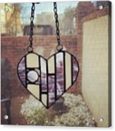 Stained Glass Heart Acrylic Print