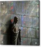 Stained Glass Illuminates Christ Acrylic Print