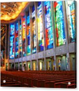 Stained Glass Of St Josephs, Hartford Acrylic Print