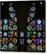 Stained Glass Our Lady Of The Rosary Cathedral Manizales Colombia Acrylic Print