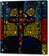 Stained Glass Reworked Acrylic Print