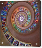 Stained Glass Spiral Acrylic Print