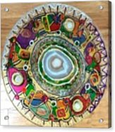 Stained Glass Table Top Acrylic Print