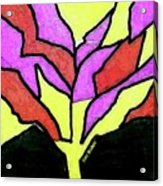 Tree - Stained Glass Watercolor Acrylic Print