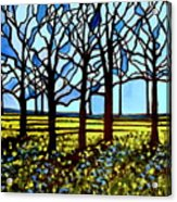 Stained Glass Trees Acrylic Print