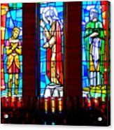 Stained Glass Triptych Acrylic Print