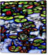 Stained Glass Water Lilies Acrylic Print