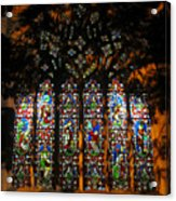 Stained Glass Window Christ Church Cathedral 1 Acrylic Print