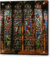 Stained Glass Window Christ Church Cathedral 2 Acrylic Print