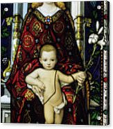 Stained Glass Window Of The Madonna And Child Acrylic Print