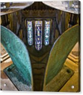 Stained Glass-window Reflection Acrylic Print