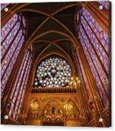 Windows Of Saint Chapelle Acrylic Print