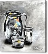 Stainless Steel Still Life Painting Acrylic Print