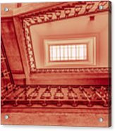 Staircase In Red Acrylic Print