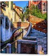 Staircase To Bridge In Venice_dsc1642_03012017 Acrylic Print