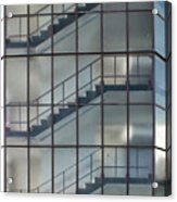Stairs Behind Glass Acrylic Print