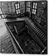 Stairs Black And White Acrylic Print