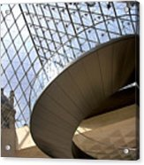 Stairs In Louvre Museum. Paris.  Acrylic Print