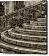 Stairs To Canal Bridge Venice_dsc1637_03012017  Acrylic Print