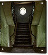 Stairs Toward The Attic - Abandoned House Acrylic Print