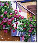 Stairway Floral Plein Air Acrylic Print