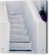 Stairway In Mykonos Acrylic Print