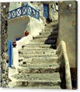 Stairway In Santorini Acrylic Print