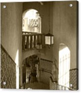 Stairway - In Sepia Acrylic Print