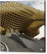 Stairway Leading Up To Metropol Parasol In The Plaza Of The Inca Acrylic Print
