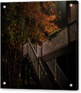 Stairway To Autumn Leaves Acrylic Print