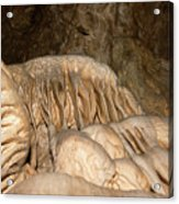 Stalactite Formation In Karst Cave Acrylic Print