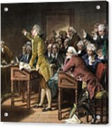 Stamp Act: Patrick Henry Acrylic Print