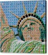 Stampue Of Liberty Acrylic Print